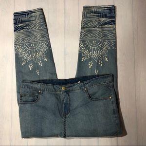 Soft Surroundings Bleach Pattern Jeans 10